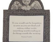 Tombstone Angel E-PATTERN - 6-inch pin doll, ornie or wall hanging