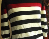 Vintage Striped Knit Top S