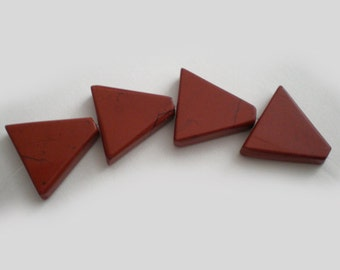 Red Jasper triangle stones 4pcs