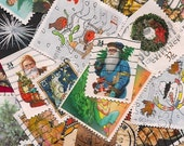 Christmas Postage Stamps - 25 Unique Designs