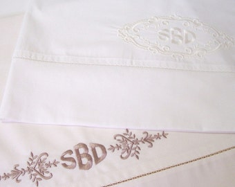 Heirloom Motifs Machine Embroidery Designs sc036d and Heirloom Pillowcases Sewing Directions in PDF