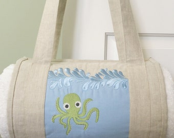 Under the Sea Machine Embroidery Designs sc059d and Beach Towel Rollup Sewing Directions in PDF