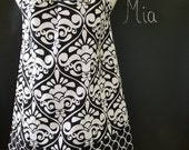 Pillowcase DRESS or TOP -  Michael Miller - Damask - Made in ANY Size - Boutique Mia