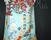 Pillowcase DRESS or TOP - Alexander Henry - Koto - Made in ANY Size - Boutique Mia