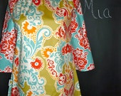 Boatneck Tunic TOP or DRESS - Sandi Henderson - Made in any Size - Boutique Mia