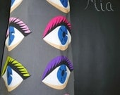 A-line SKIRT - Eyes - Made in ANY Size - Boutique Mia