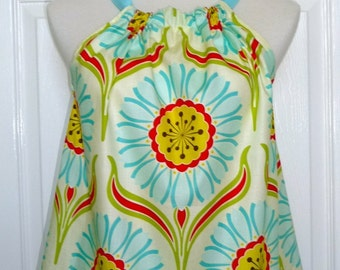 Pillowcase DRESS or TOP - Heather Bailey - Pop Garden -  Made in ANY Size - Boutique Mia
