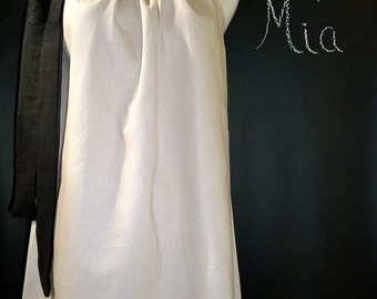 Pillowcase DRESS or TOP - Scandinavian - Linen mix - Made in ANY Size - Boutique Mia