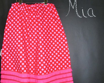 Ruffle A-line SKIRT - Ta Dots - Made in ANY Size - Boutique Mia