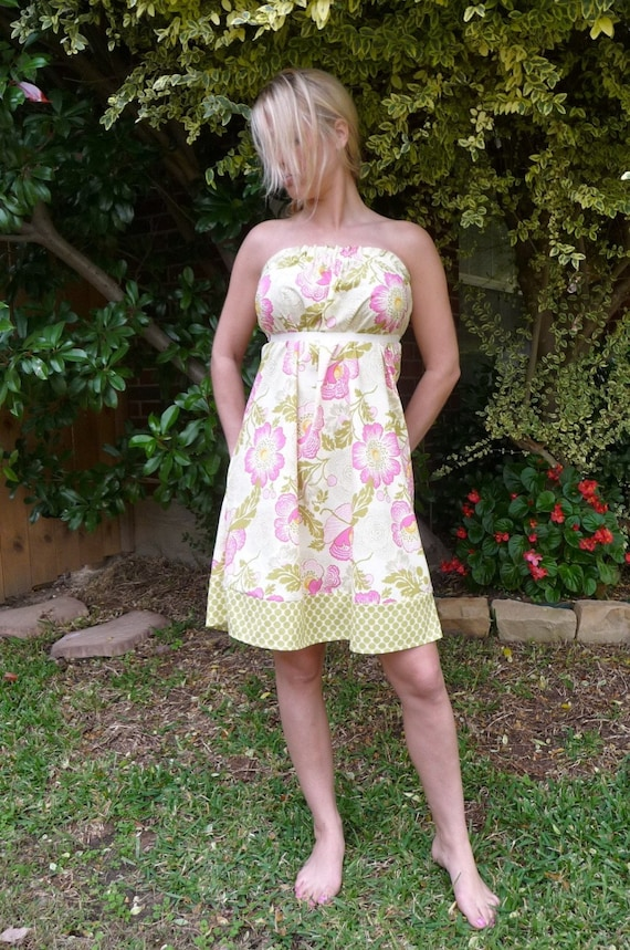 Strapless DRESS - Amy Butler - Made in ANY Size - Boutique Mia by CXV