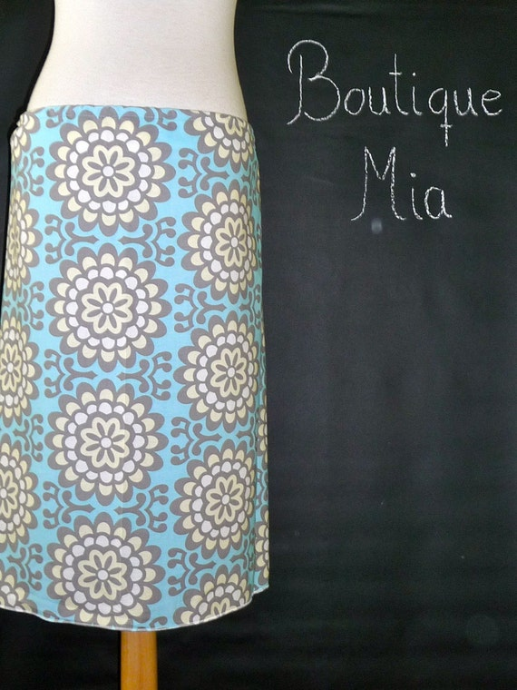 Pencil SKIRT - Amy Butler - Wallflower - Made in ANY Size - Boutique Mia