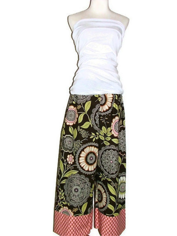 Samurai PANTS - Olive Lacework - Made in ANY Size - Boutique Mia