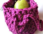 Fall Sale - Apple Sack, Fuchsia, Vegan Friendly