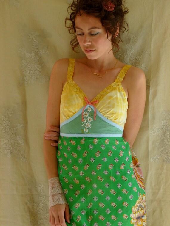 SALE Fleurette Slip Dress... Size Medium... Eco Friendly Recycled