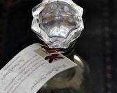 Crystal Clear Re-Purposed Wine Bottle Stopper- Free Shipping