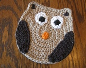 Large Crochet Owl Applique