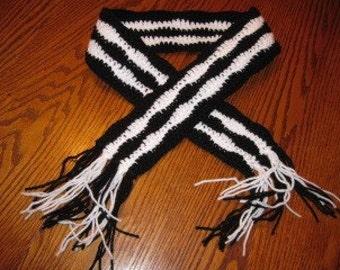 Zebra scarf - large size