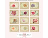 Rose Nostalgia Collection Set of 12 Blank Folded Notecards Item No. RNC054-12A