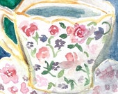 Chintz Tea cup ACEO