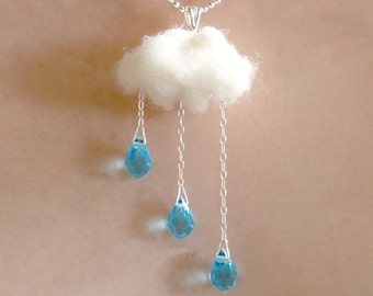 ENGLISH SUMMER  - Rain and Cloud - NECKLACE