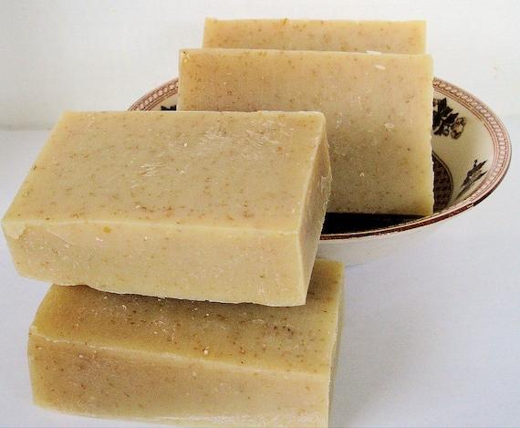Oats & Honey Goat Milk Soap 1 Large Bar Unscented Fine Ground Oats Organic Honey