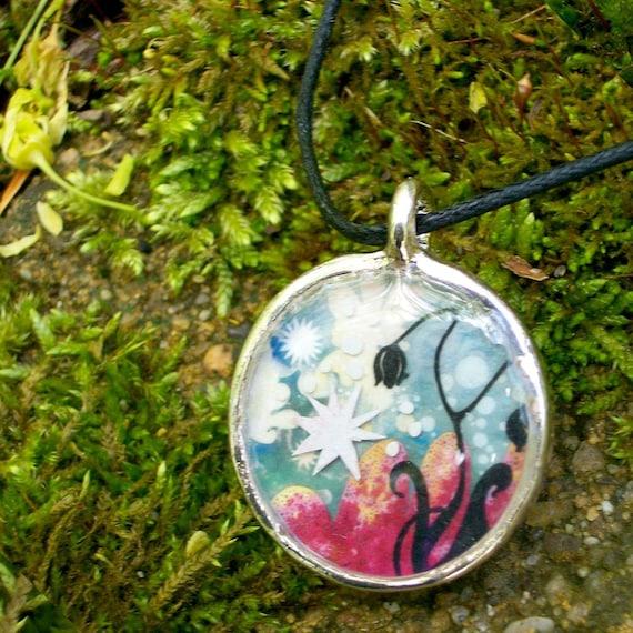 Twilight - SALE - 16 Inch Pendant Necklace - Featuring Original design by Nancy Tobin