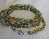 Knotted Glass Necklace
