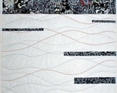 White and Black Fiber Art Quilt - ForComfortQuilts