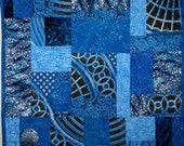 The Blues Quilt Wall Hanging - ForComfortQuilts