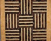 Gold and Black Batik Quilt - ForComfortQuilts