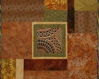 Fiber Art Handmade Photo Art Quilt Wall Hanging