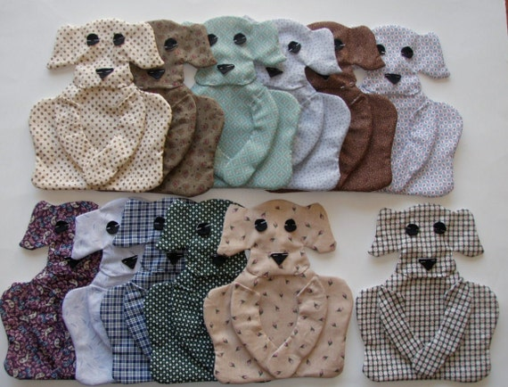 Calico Dog Appliques for Quilt   Set of 12   Style 3  Lot 302