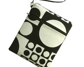 IPad Pouch - For iPad 1 and 2 - Mid-Century Modern - VERNER PANTON Fabric - Detachable Strap