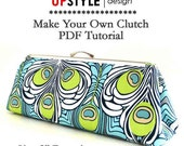 """PDF Sewing Instructions/Tutorial for 8"""" Open Channel Clutch Purse Frame"""