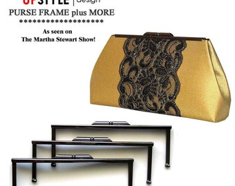 THREE Black NIckel Purse Frames - Includes FREE Step by Step Tutorial - As Seen on the Martha Stewart Show