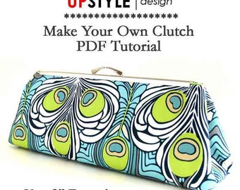 "PDF Sewing Instructions/Tutorial for 8"" Open Channel Clutch Purse Frame"