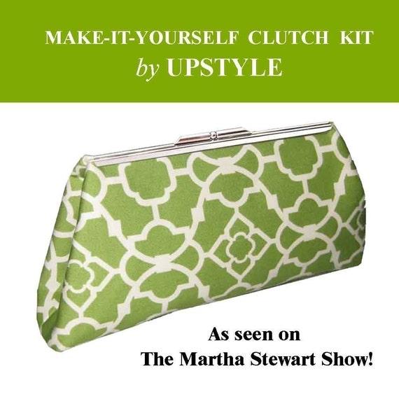 SALE SALE SALE - 20 PERCENT OFF - MAKE-IT-YOURSELF CLUTCH PURSE KIT - As seen on the Martha Stewart Show
