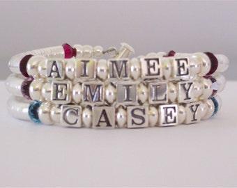Mothers Day Sterling Silver Mommy Bracelet 3 kids SALE PRICE!
