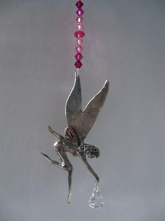 Tinkerbell Fairy Sun Catcher - Pinks