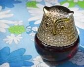 Vintage Avon Owl -- Raining Violets Gelee