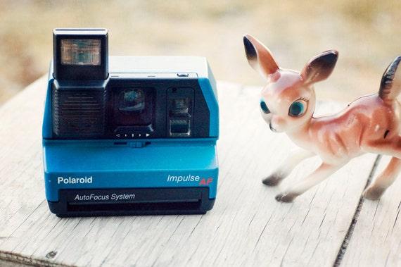 Film Tested Polaroid Impulse AF Instant Camera in Fabulous Blue