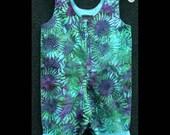 Jewel Sunflowers Batik Overalls  --  3 months