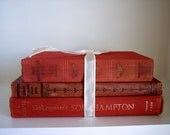 Vintage Book Bundle RED  History Philosophy Poetry The South