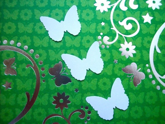 White 100 Cardstock Butterflies Wedding Party Confetti Baby Shower Decor