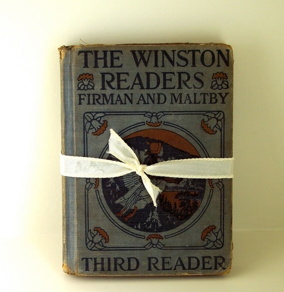 Vintage Book The Winston Readers Third Reader by Firman and Maltby Hardcover