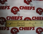 Official NFL  licensed Kansas City Chiefs football Team Fabric cotton
