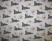 Pittsburgh STEELERS NFL Football Team Licensed Cotton Fabric White Black Red Yellow BTY