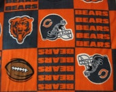 Reserved for tanyamaile 2 yards Official NFL Licensed Chicago Bears Football Team FLEECE Fabric Block Pattern