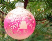 Unsilvered Pink Vintage Shiny Brite Christmas Ornament