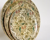Platters Trio of Decorative Trays with Birds from Japan